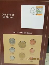 Oman Set In Franklin Mint Coins Of All Nations Card 8 Pc.