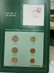 Yugoslavia Set In Franklin Mint Coins Of All Nations Card 6pc. 1983