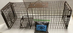 Heavy Duty Live Trap With Bait Safely Relocate Unwanted Animal Control