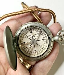 Keuffel And Esser Working Compass. Lanyard. Pendant Fob. Condensation Marks
