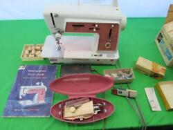 Vintage Singer Touch And Sew Sewing Machine Deluxe Zig Zag 626 And Accessories