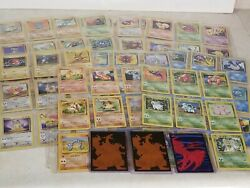 Large 1999 Pokemon Card Lot - 100 Cards - 3 Collector Sleeves - No Repeats