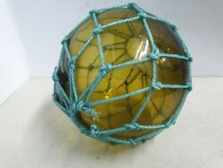Antique Portuguese Glass Fishing Float Ball Brown Color