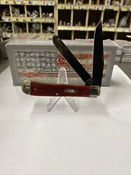 Case Xx Trapper Knife Smooth Old Red Bone Pvd 10890 Stainless Pocket Knives