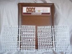 L@@k Dad's Root Beer Nos Menu Board Sign W/2 Sets Of Letters,numbers And Symbols