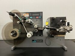 Labeler For Round Bottles. Wrap Around Label Applicator Us Made Scpe St400
