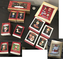 Lot Of 16 Peanuts Charlie Brown Snoopy Hallmark Ornaments Series Exclusive Extra