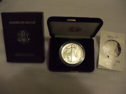 1986-s Proof American Silver Eagle Coin - One Troy Oz .999 Bullion