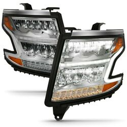 111479 Anzo Headlight Lamp Driver And Passenger Side New For Chevy Lh Rh Tahoe