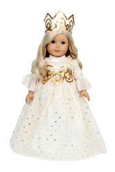 Golden Queen Gown Made For 18 American Girl Doll Clothes