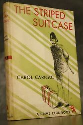 1947 The Striped Suitcase Carol Carnac Hardcover W/dj Doubleday First Edition