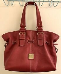Dooney And Bourke Handbag J8697009 Large Red Soft Leather Purse $42.50