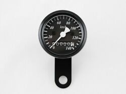 Speedo 48mm Mini Black Cafe Racer Bobber Chopper Cruiser Tracker Vintage Custom