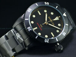Rare New 1953 Pro Diver Mens Nh35 Automatic 40mm All Black Ip Ss Watch