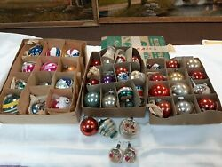 Antique Christmas Balls, Bell, Mercury Glass Primitive Country Decorations
