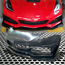 Fit For 14-19 Corvette C7 Car Front Bumper Ducts Cover Fascia Assembly