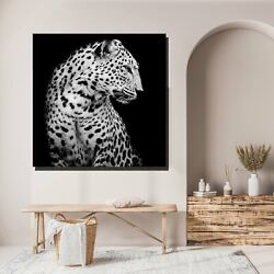 Leopard Side View Animals Lions And Tigers Canvas Art Print For Wall Decor