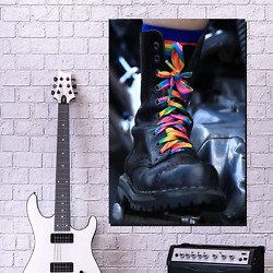 Shoe Statement Lgbtq Inspired Canvas Art Print For Wall Decor