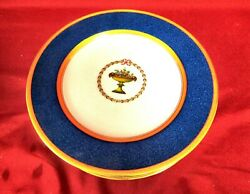 6 Spode Copelands China Lapis Blue And Gold Floral Lunch Plates - 8-3/4