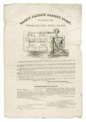 Ames Manufacturing Company / Balland039s Patent Safety Pump For Supplying Steam 1856