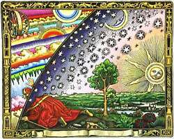 The Flammarion Engraving 1888 Firmament Dome Flat Earth Wall Art Poster Print