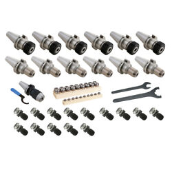 Techniks 43 Pc. Cat40 Tooling Package And Fadal/mazak Non-coolant Thru Pull Studs