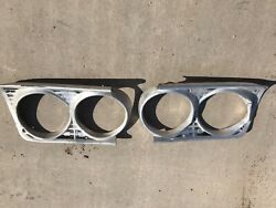 63 Ford Galaxie Pair Left And Right Headlight Trim Bezel Surround Panel Oem