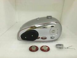 Fit For-bsa A7 A10 Painted Chromed Fuel Tank With Fuel Cap + Knee Pads