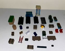 Vintage Ho Model Railroad Figures Signs Trees Animals And More 120 Items