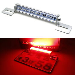 Red Led License Plate Frame Mount Tail/brake Light Universal Fit For Motorcycles