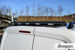 To Fit Volkswagen Caddy 10 - 15 Stainless Black Rear Roof Bar + 3-function Leds