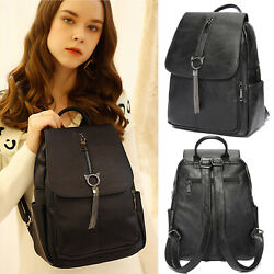 Women Tassel Backpack Purse Lady Flap Anti Theft Rucksack Waterproof School Bag $16.79