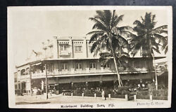 1929 Fiji Real Picture Postcard Cover To Germany Michelmore Building