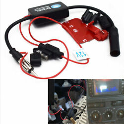Car Truck Stereo Antenna Fm Am Radio Inline Signal Amp Amplifier Booster Durable