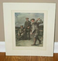 Golf Art Print - The Triumvirate 1913 By Clement Flower-copyright 1984