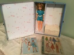Vintage Ideal Tammy Doll Light Blue Case Clothes Shoes Patterns And More