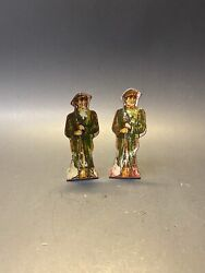 Vintage Marx Tin Litho Soldiers Russian Infantry N0 20 Foot Soldier Toy Set Of 2