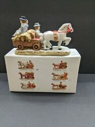 Vintage Christmas Geo Z Lefton 1987 Colonial Village Horse And Carriage Tsd06456