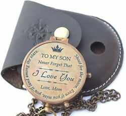 To My Son Personalized Brass Compassson From Dad Gift For Son Mother Son Gift