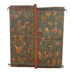 Antique Window Wooden Shutters Window Tantra Hand Painted Home Decorative Gifts