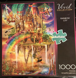 Buffalo Games Vivid Collection Rainbow City Jigsaw Puzzle 1000 W/poster Free Shp
