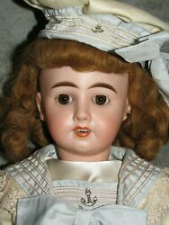 21andrdquo French Bisque Andldquom6andrdquo Bebe Paperweight Eyes Steiner-type Doll Body And Pate