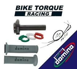 Domino Xm2 Quick Action Throttle Kits With A010 Grips To Fit Apgmoto Bikes