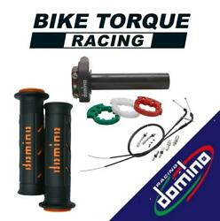 Domino Xm2 Quick Action Throttle Kit With Super Soft Grips For Ch Racing Bikes