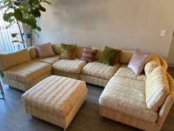 Midcentury Sectional Couch Milo Baughman Style