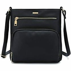 CATMICOO Small Crossbody Bags Women With Multi Pockets Black Handbags $26.94