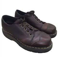 Dr. Martens Menand039s Shoes Size 9m Brown Oxford Docs 8651 Lace Up Leather