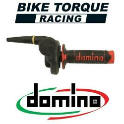 Domino Hr Cross Off Road 2t Throttle With Black/red Grips To Fit Vintage Bikes