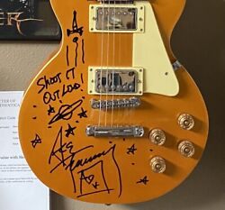 Kiss Ace Frehley Signed Autographed Guitar With Sketch One Of A Kind