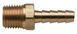 Moeller Brass Fuel Line Hose Barb 1/4 Npt X 3/8 With Male Threads